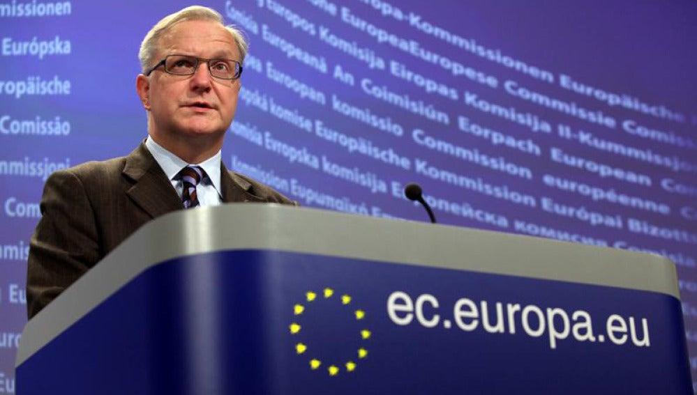 El vicepresidente de la Comisión Europea, Olli Rehn