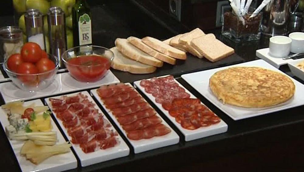 Desayuno de dieta mediterránea