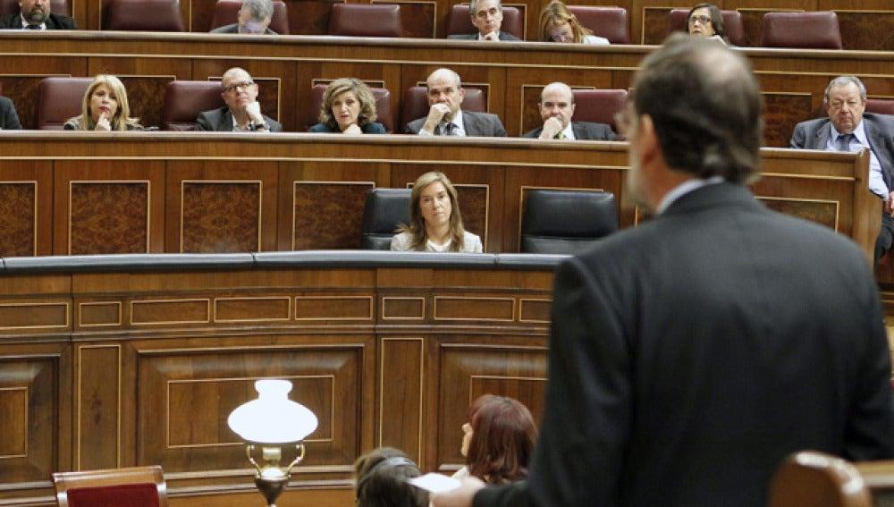 Mariano Rajoy, en la sesión de control
