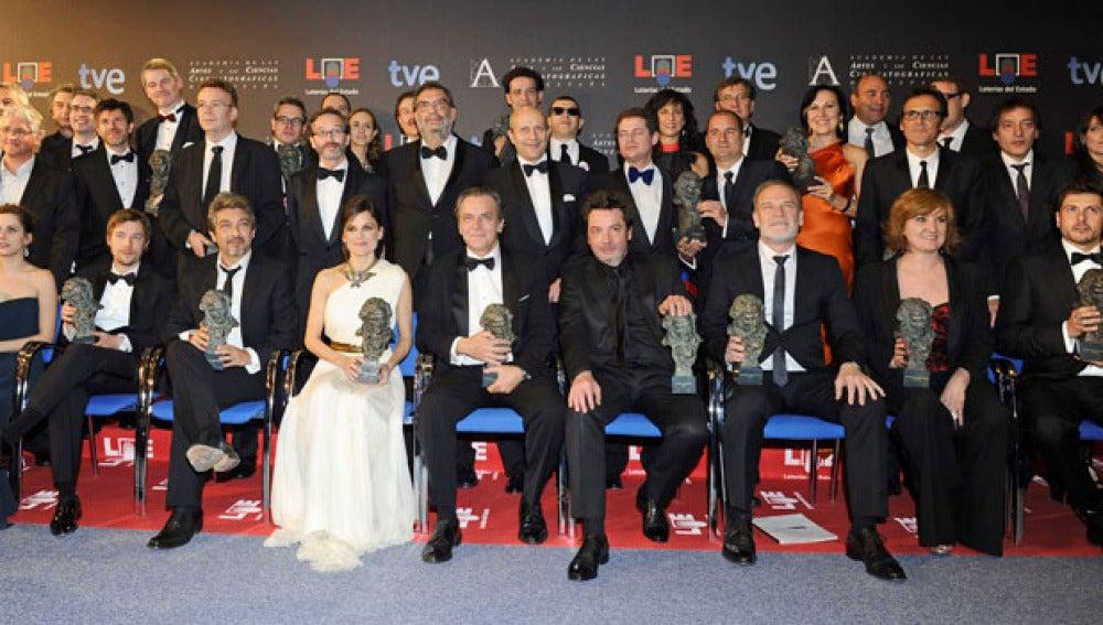 Foto de familia de los ganadores