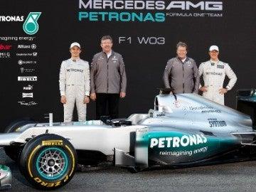Presentación del Mercedes W03