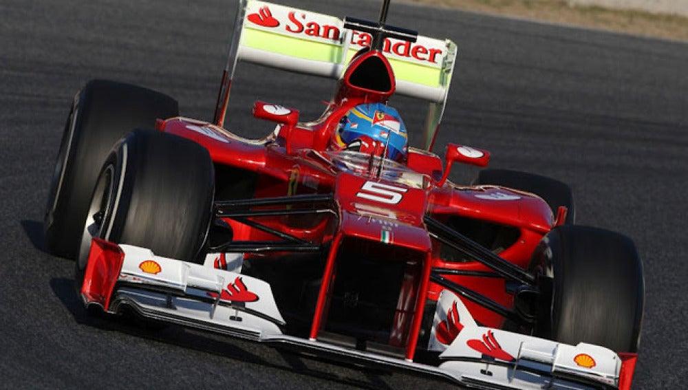 El F2012 de Alonso, en Montmeló