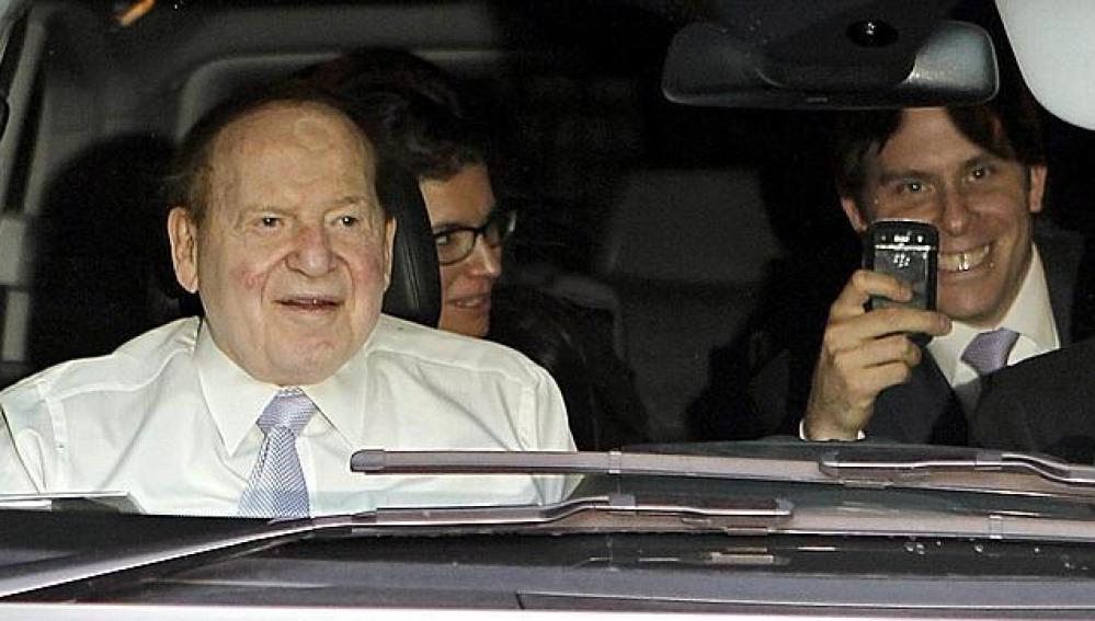El magnate de los casinos Sheldon Adelson en Barcelona