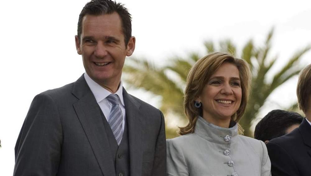 La infanta Cristina, duquesa de Palma, junto a su marido, Iñaki Urdangarin