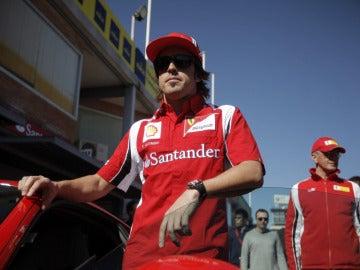 Fernando Alonso, en el circuito del Jarama