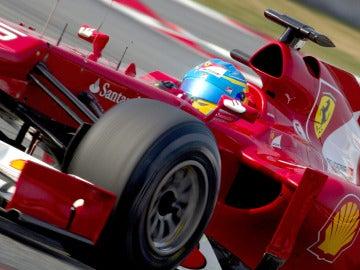 Fernando Alonso, en Montmeló