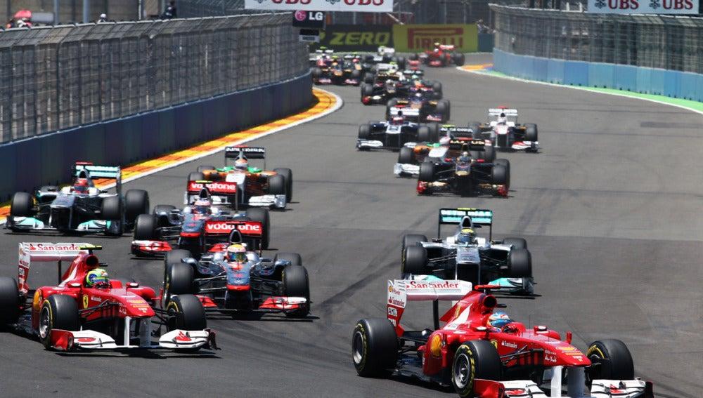 Fernando Alonso en Valencia Street Circuit