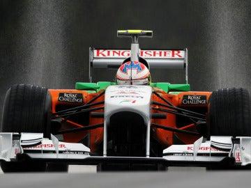 Paul di Resta en el GP de Bélgica 2011