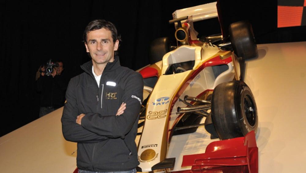 Pedro de la Rosa, piloto de HRT