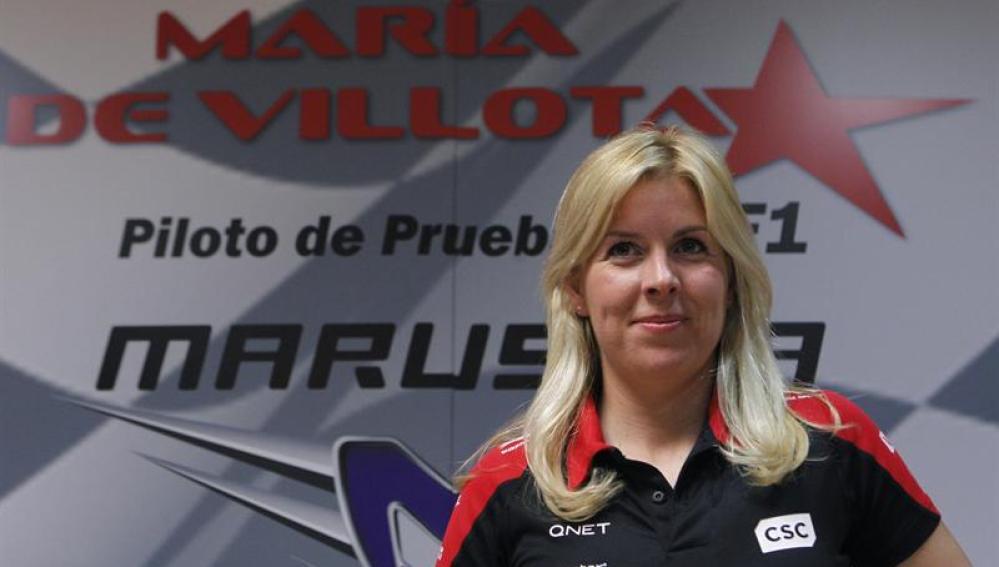 María de Villota en su presentación con Marussia
