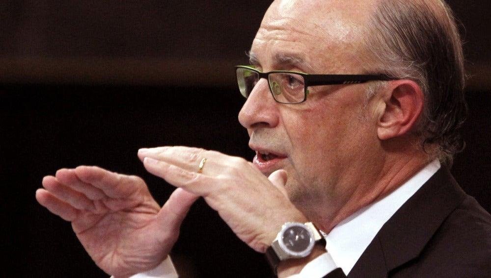 Cristóbal Montoro, ministro de Hacienda, en el Congreso