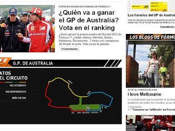 La nueva web de Fórmula 1 de antena3.com