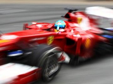 Fernando Alonso en Montmeló