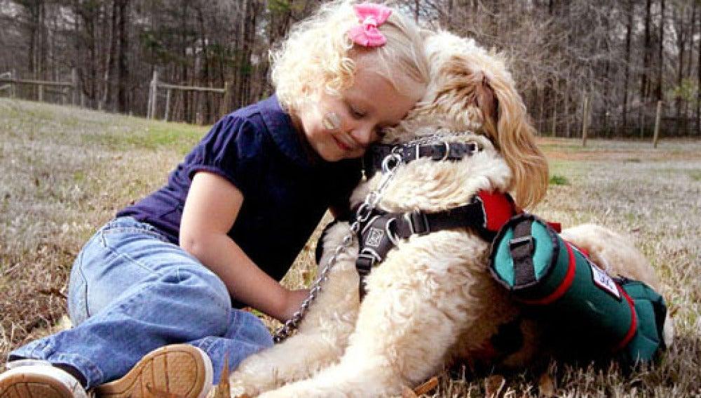 Gesto de cariño entre can y dueña