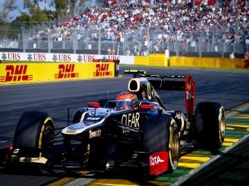 Romain Grosjean en Albert Park