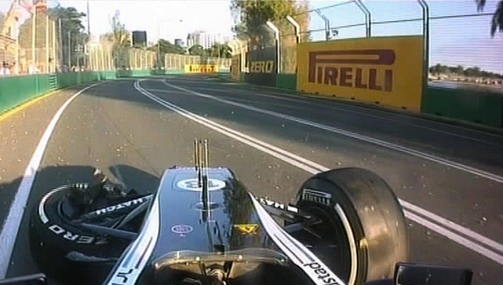 Maldonado destrozó su monoplaza en Australia