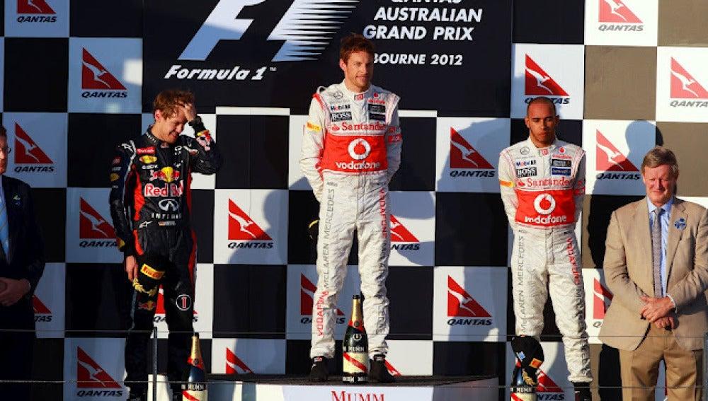 Podio del GP Australia 2012