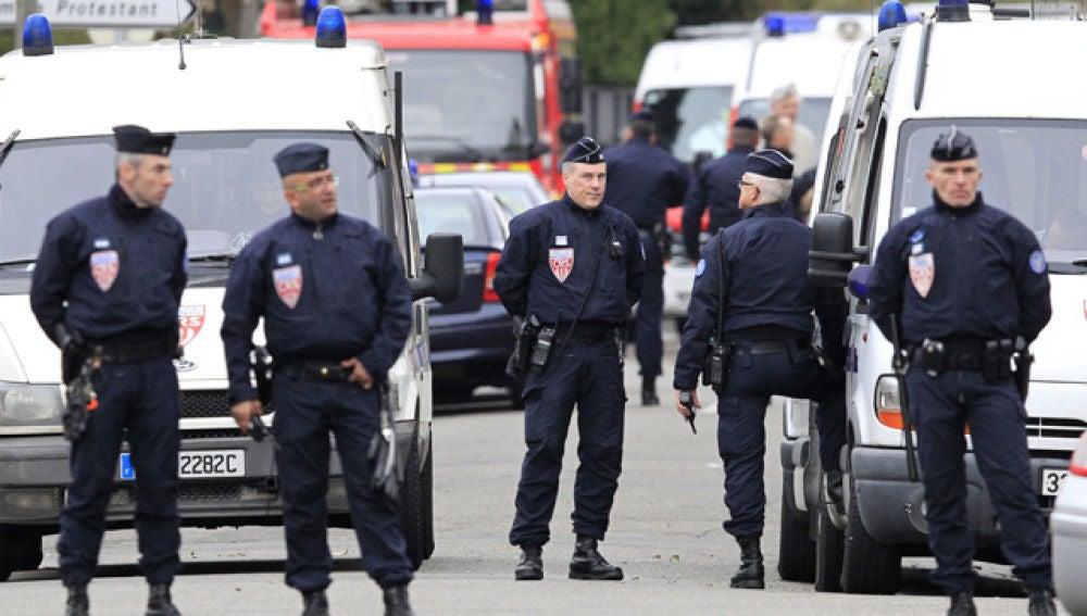 Policía francesa en Toulouse