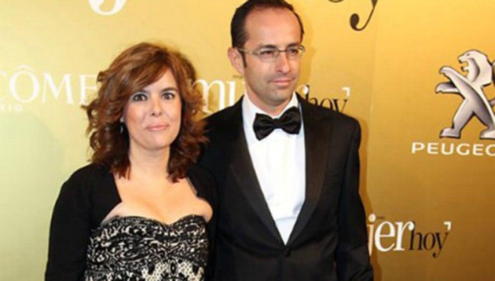 Soraya Sáenz de Santamaría y su marido, Iván Rosa