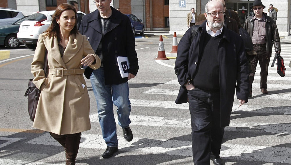 Enrique Fosul a su llegada a la reunión en el Ministerio de Fomento