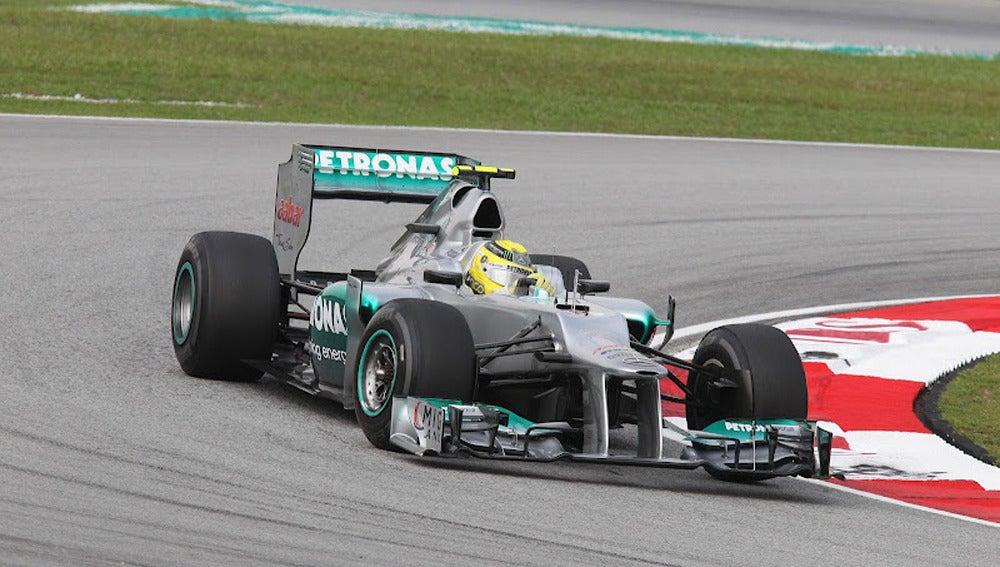 Nico Rosberg en su Mercedes