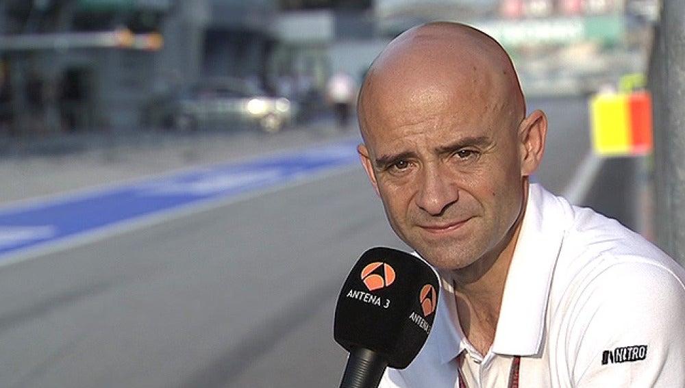 Antonio Lobato, en el circuito de Sepang