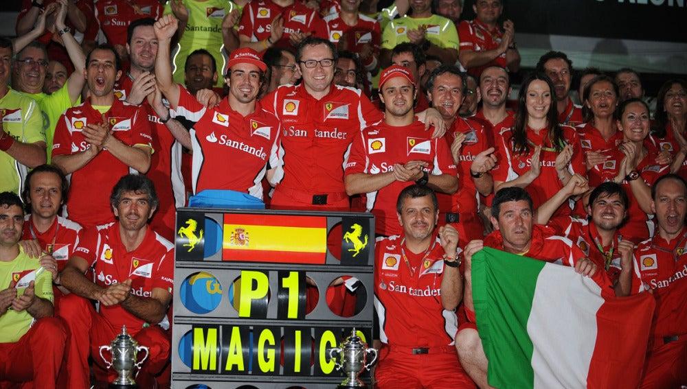Foto de familia de Ferrari en Malasia