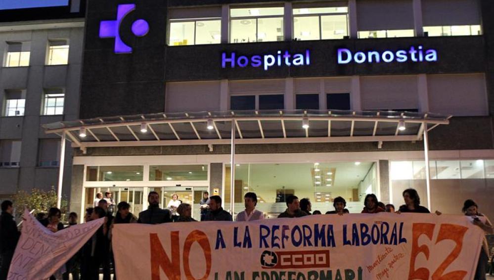 huelga en los hospitales
