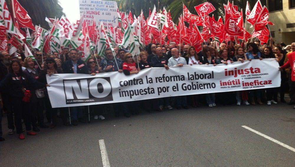 Manifestación CCOO UGT