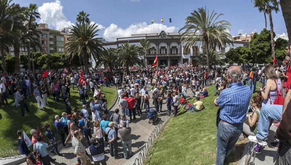 Huelga en Las Palmas