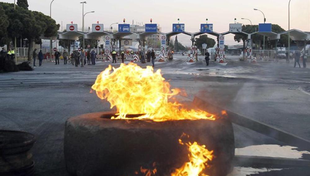 Enfrentamientos en Barcelona