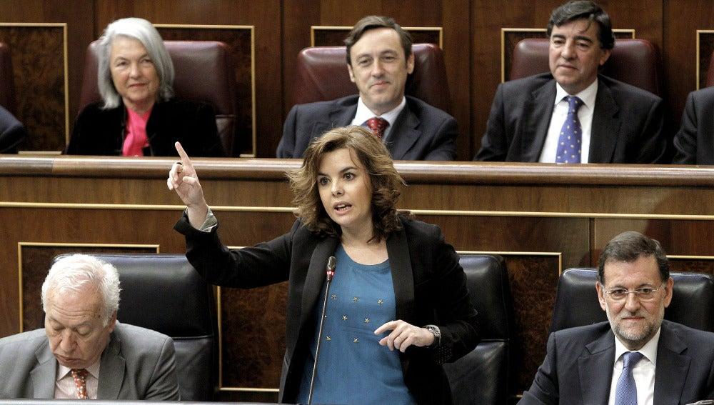 Soraya Sáenz de Santamaría, en el Congreso de los Diputados