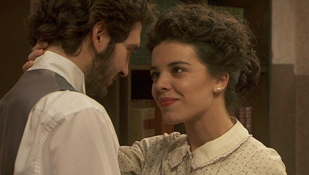 Gregoria y Tristán se reconcilian