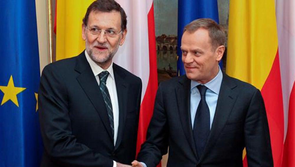 Mariano Rajoy y el primer ministro polaco, Donald Tusk
