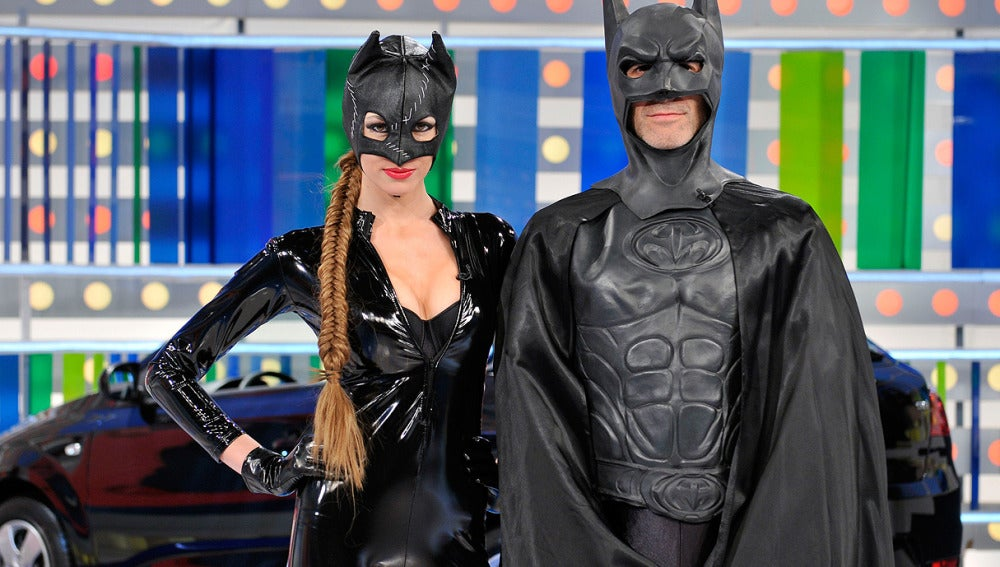 Jorge Fernández y Paloma con Superhéroes en La Ruleta