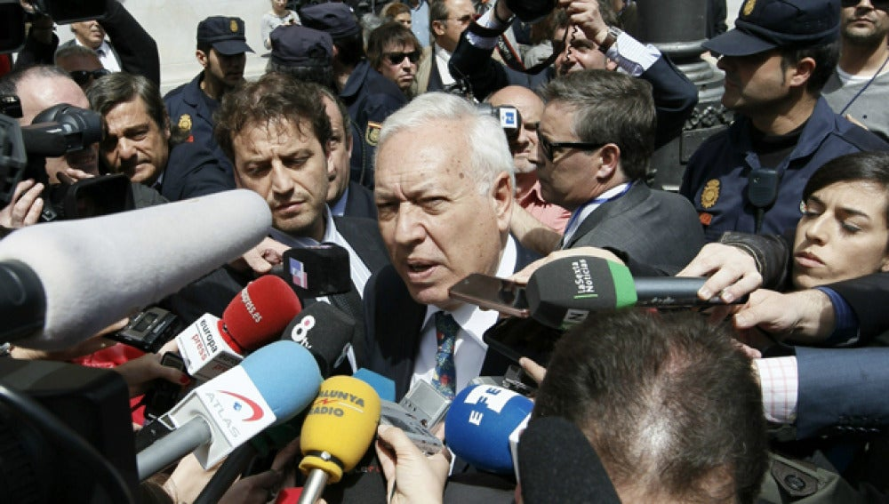 Margallo, en declaraciones a los periodistas