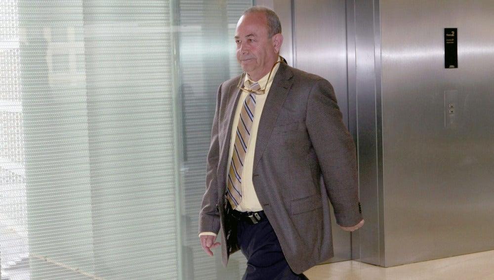El juez José Castro a su llegada a los juzgados