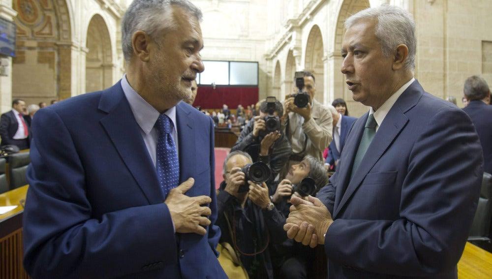 José Antonio Griñán y Javier Arenas