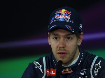 Sebastian Vettel en rueda de prensa