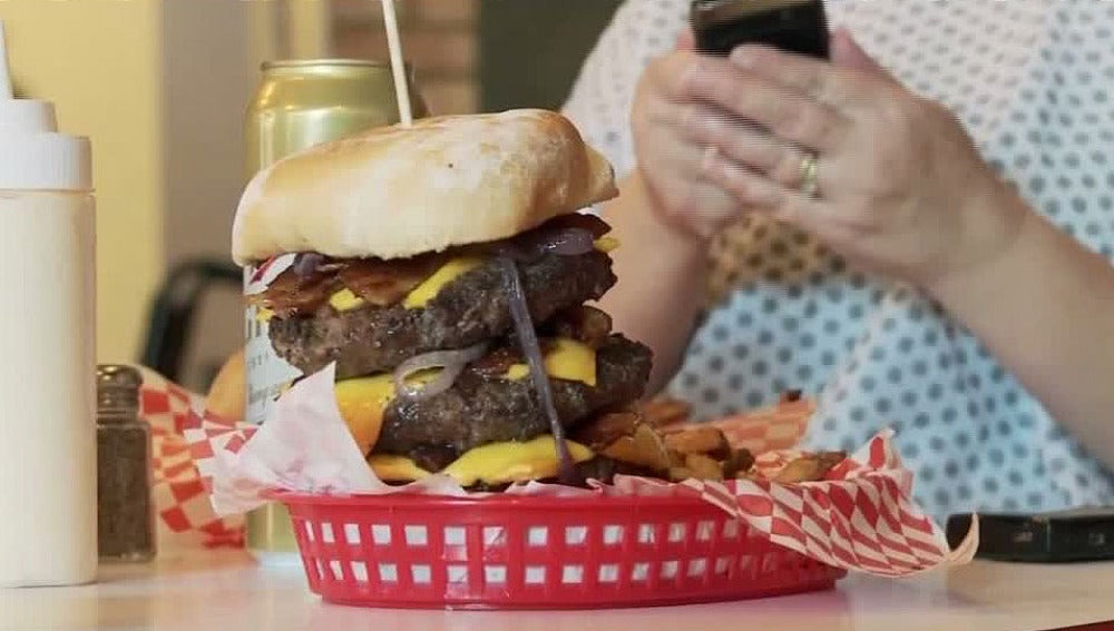 Hamburguesa del restaurante 'Ataque al corazón'