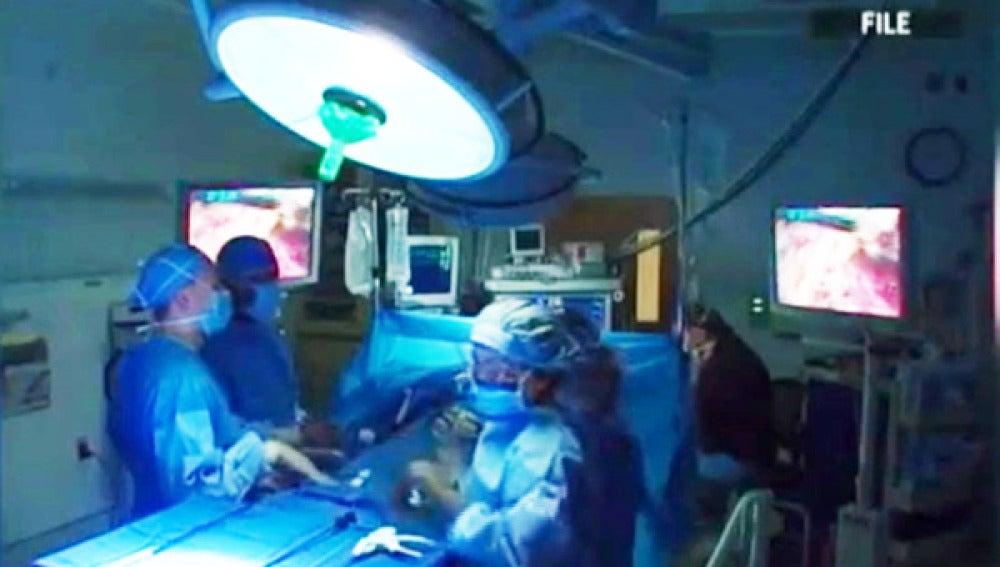 Operación de riñón.