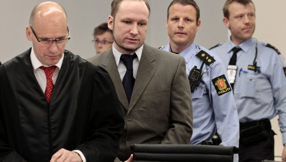 Anders Breivik durante el juicio