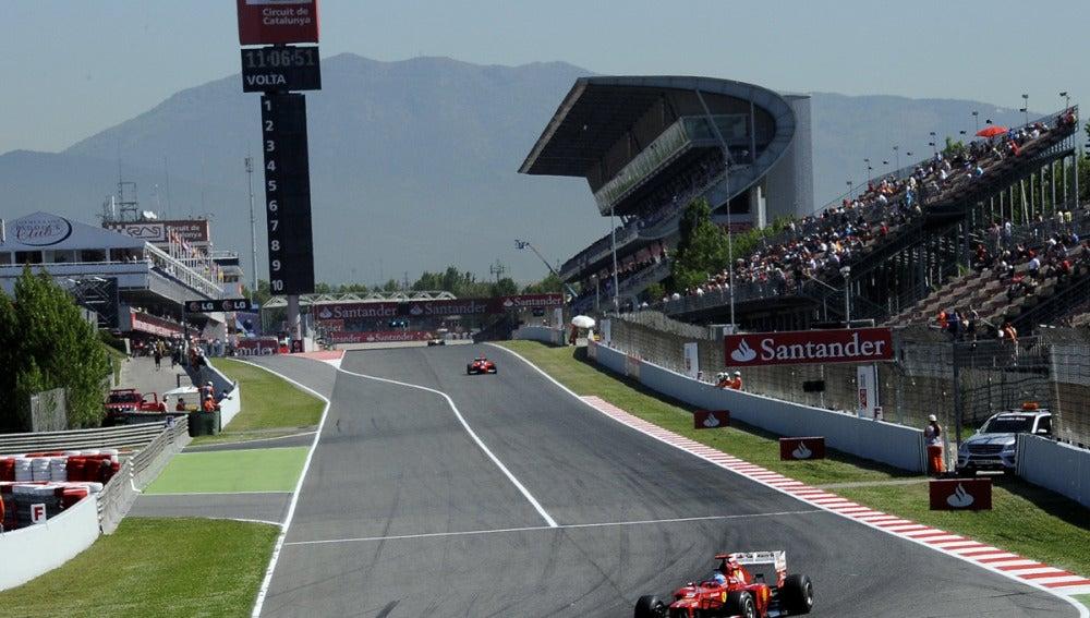 Alonso en el Circuito de Cataluña