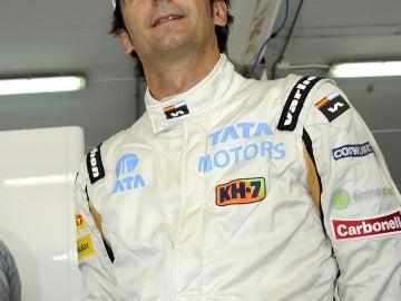 Pedro de la Rosa en el GP de España