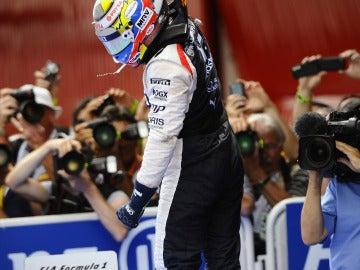 Maldonado, exhultante tras la victoria