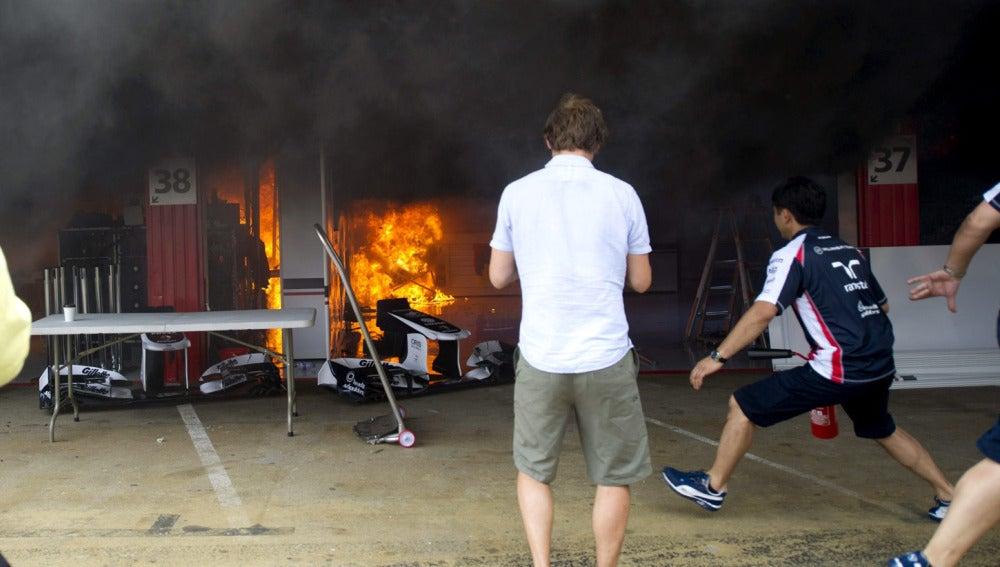 El fuego se extendió rapidamente
