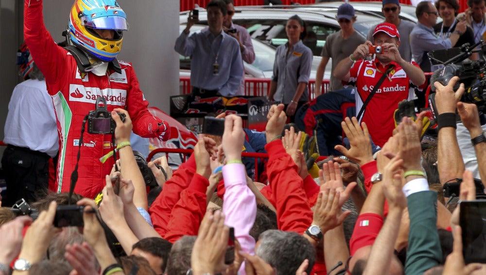 Alonso al finalizar la carrera
