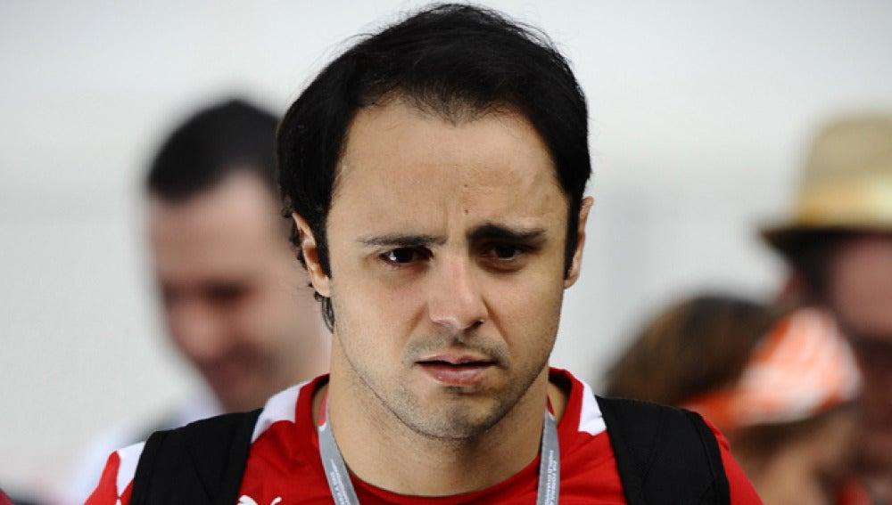 Felipe Massa tras la carrera de Montmeló