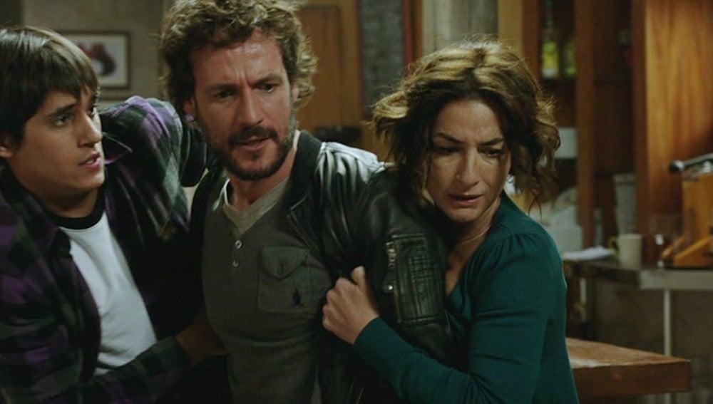 Raúl, Carola y Pablo