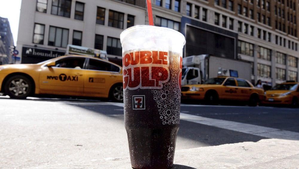 Refresco de tamaño grande en Nueva York